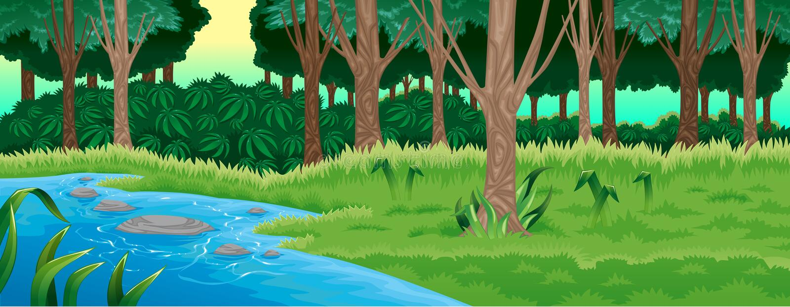 Green forest. royalty free illustration