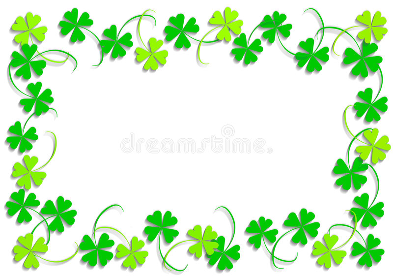 Green four leaf clover royalty free illustration