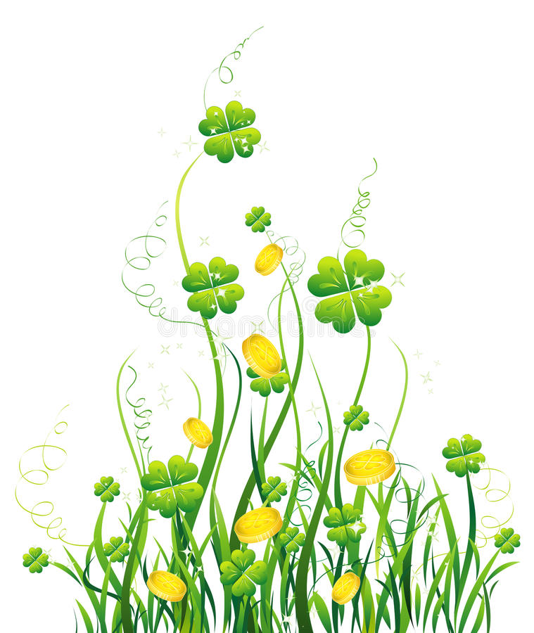 Free Green Four-leaves And Yellow Wild Flower Stock Photos - 13301003