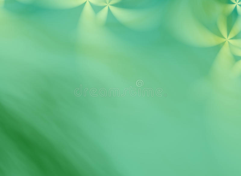 A green fractal background with floral ornaments vector illustration