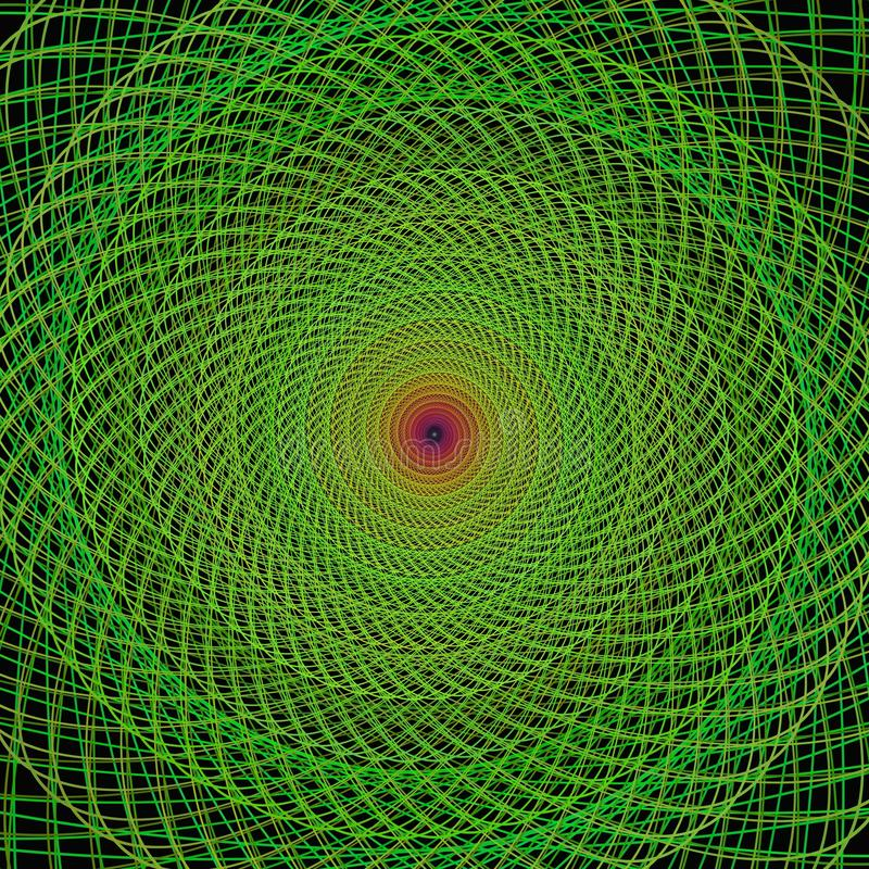 Green fractal spiral background royalty free illustration