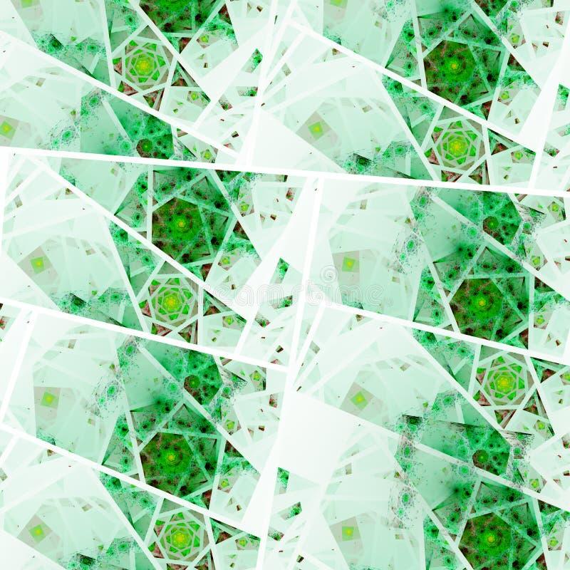 Green fractal swirls. Digital artwork for creative graphic design stock illustration