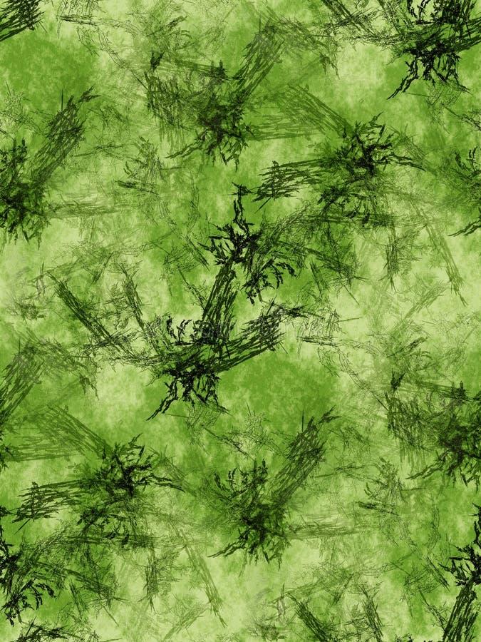 Green Fractals Background Stock Images