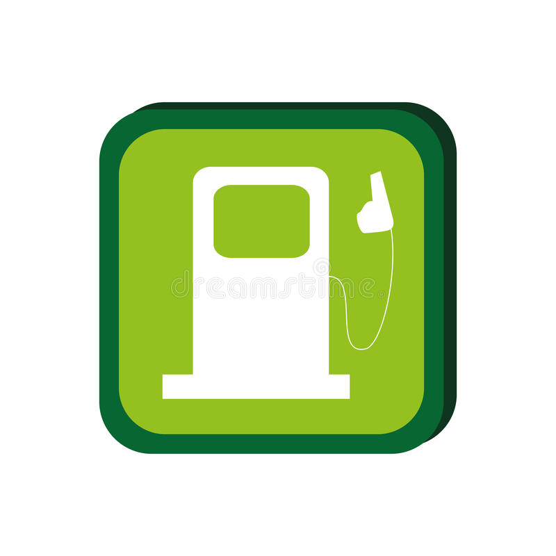 Green frame with bio fuel station vector illustration