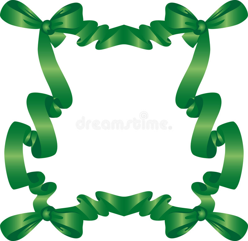 Green Frame With Bow Stock Images