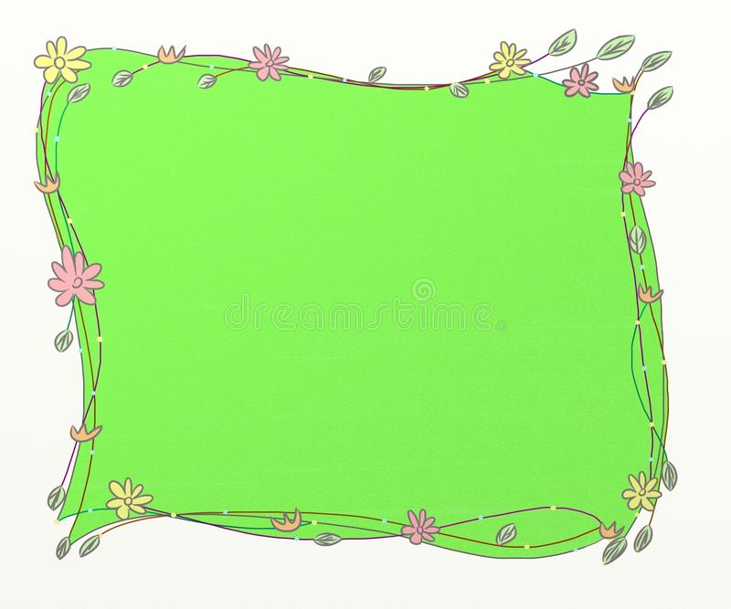 Green frames royalty free illustration
