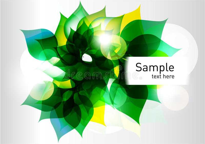 Green fresh abstract leaves background royalty free illustration