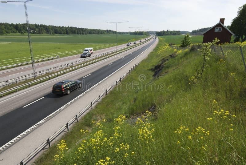 Green friendly highway stock photos