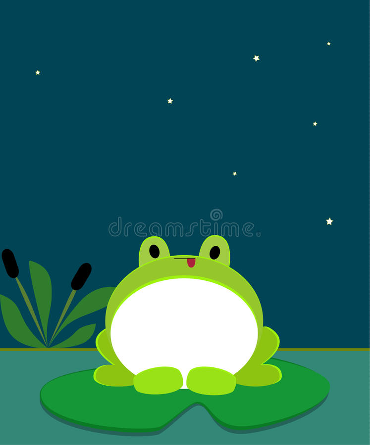 Download Green frog stock vector. Image of animal, chubby, adorable - 24083281
