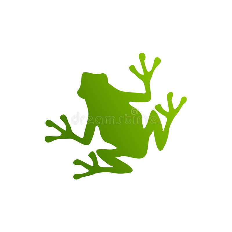 Green frog silhouette royalty free illustration
