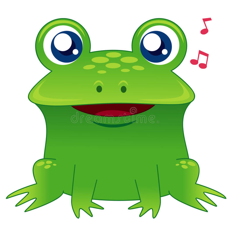 Download Green frog singing stock vector. Illustration of song - 27196806