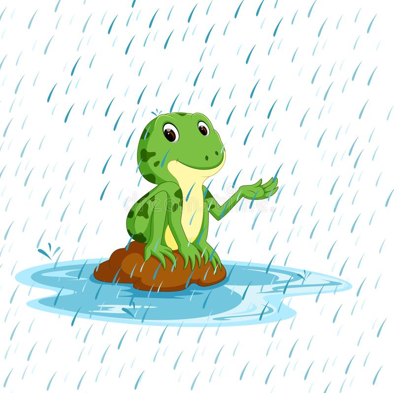 Free Green Frog With Happy Smile Stock Photography - 113244322