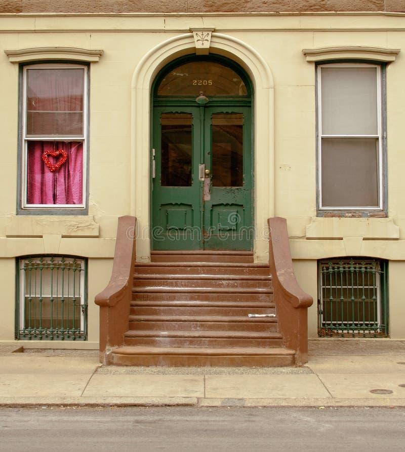 Green Front Door stock images