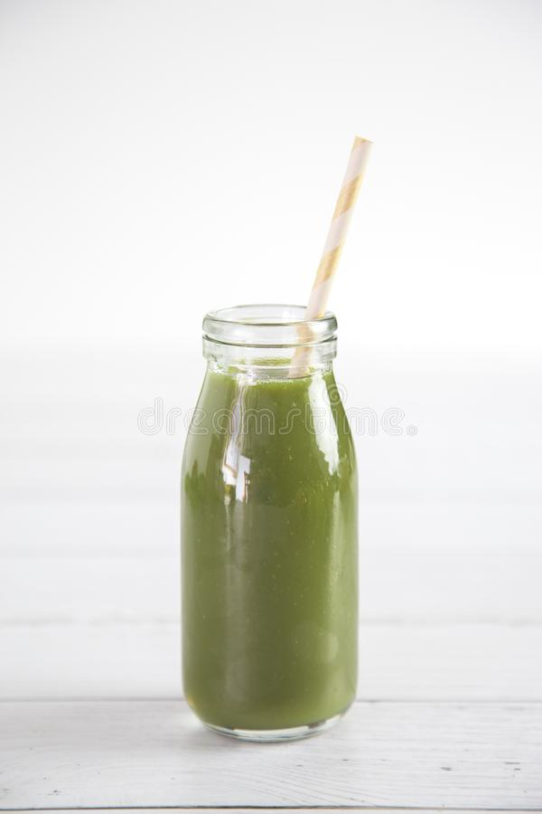 Green Fruit and Veggie Smoothie royalty free stock photo