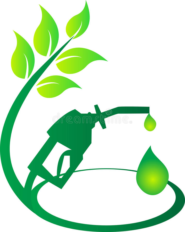 Green fuel. A vector drawing represents green fuel design royalty free illustration