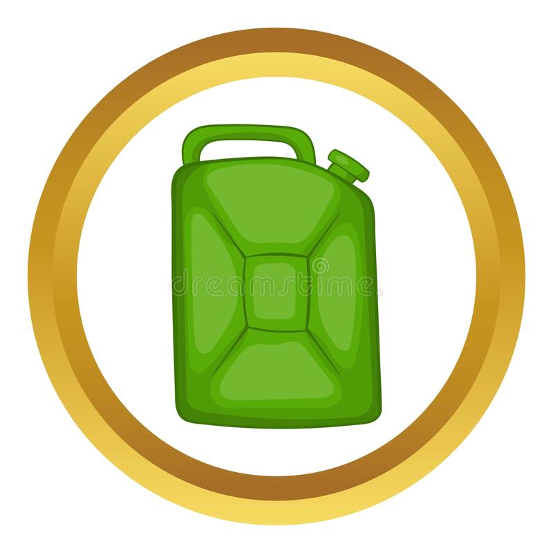 Green fuel canister vector icon stock illustration