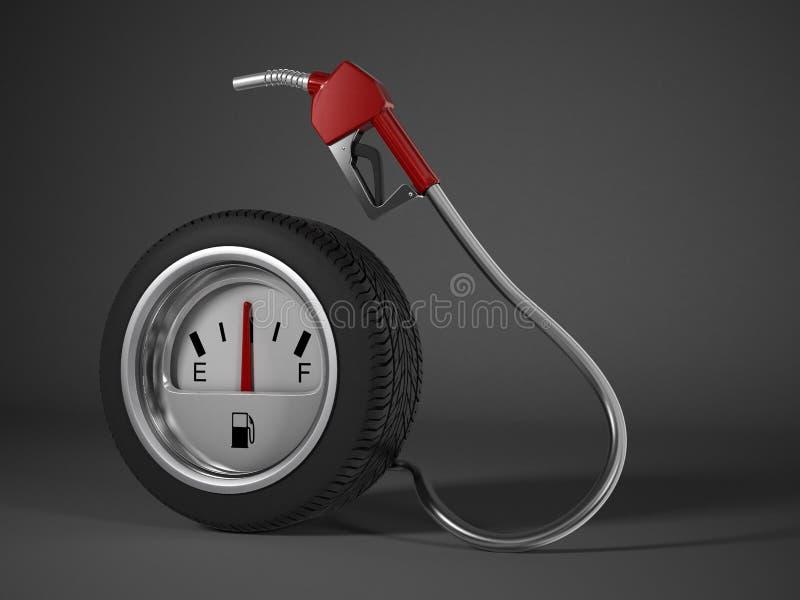A green fuel nozzle vector illustration