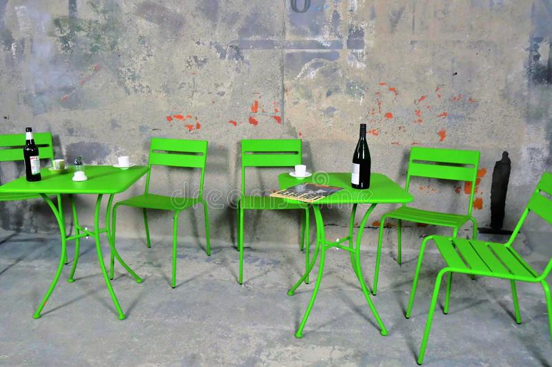 Green, Furniture, Table, Chair royalty free stock images