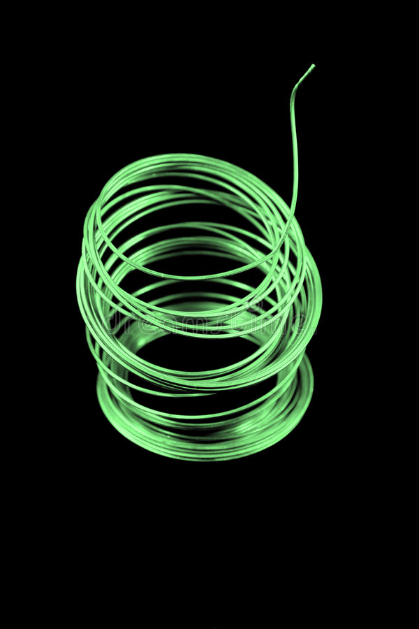 Green Fuse Wire stock photography