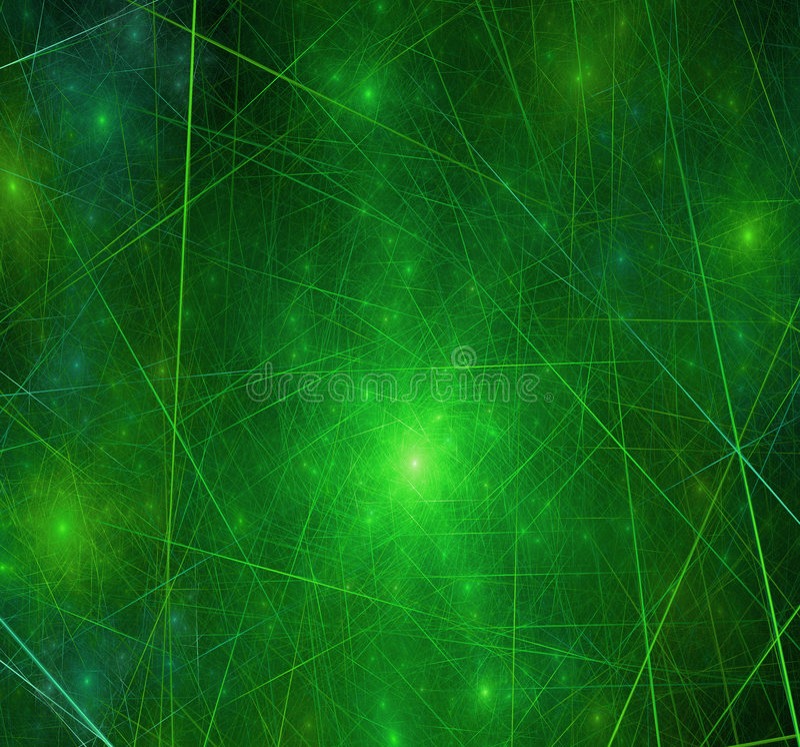 Green Galaxy Matrix Stock Illustration. Illustration Of