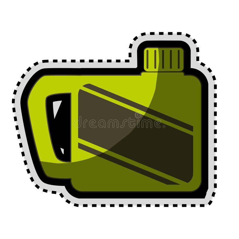 Green gallon isolated icon royalty free illustration