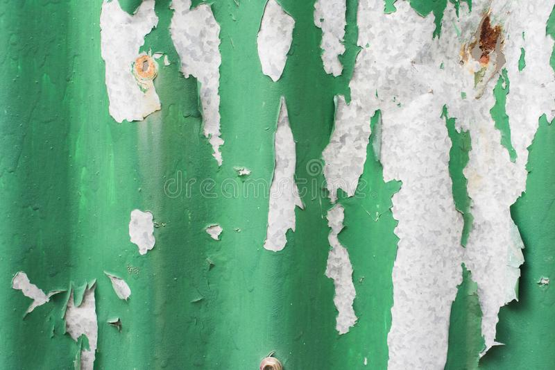 Green galvanized iron background with scratch royalty free stock photo