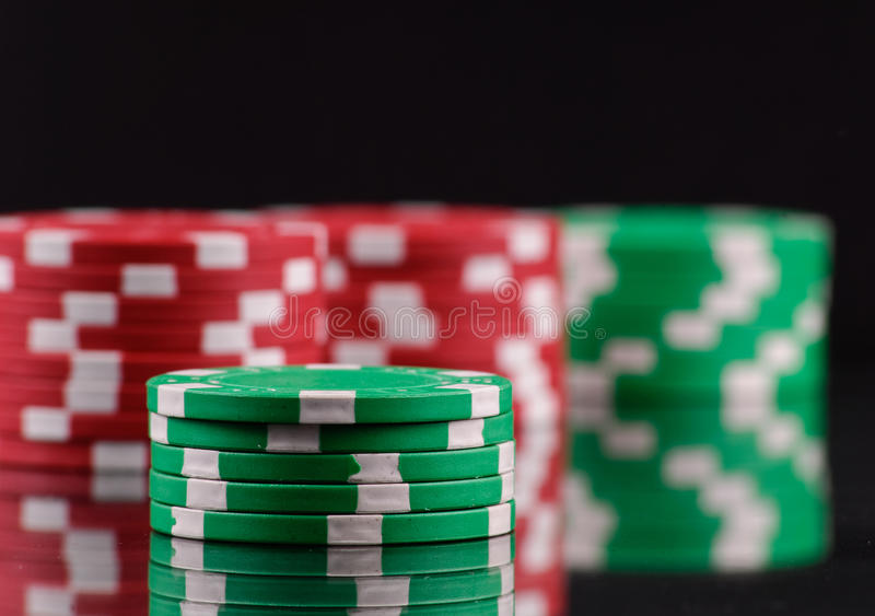 Download Green Gambling Chips stock image. Image of entertainment - 16911369