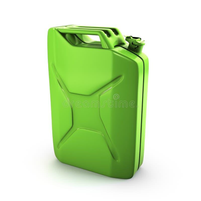 Download Green gas can stock illustration. Illustration of metallic - 19487913