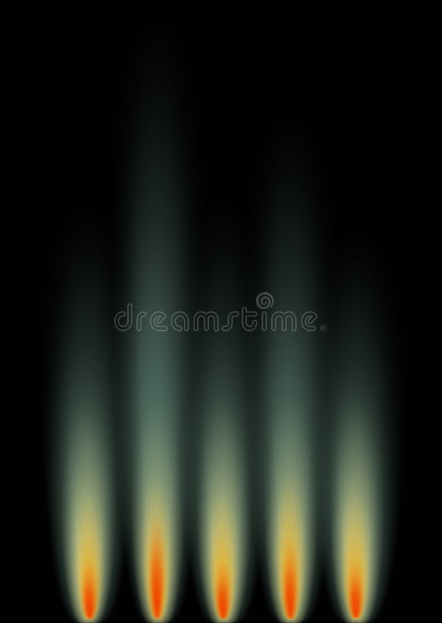 Green Gas Flames royalty free stock photos