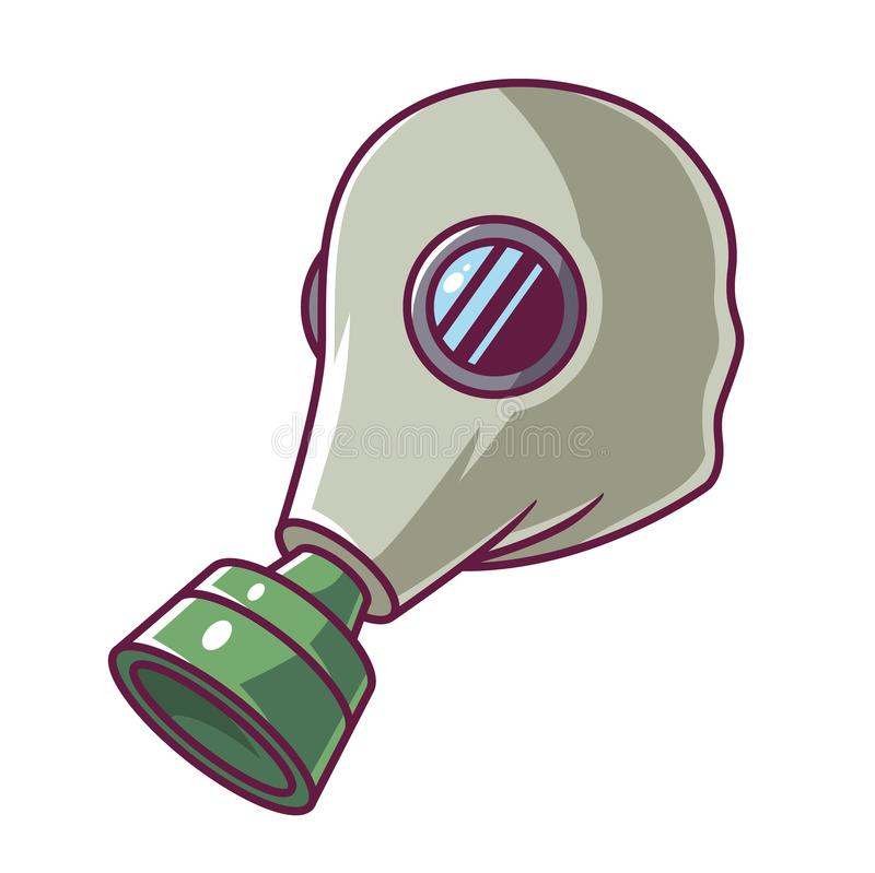 Green gas mask stock illustration