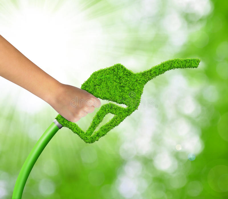 Green gasoline fuel royalty free stock photo