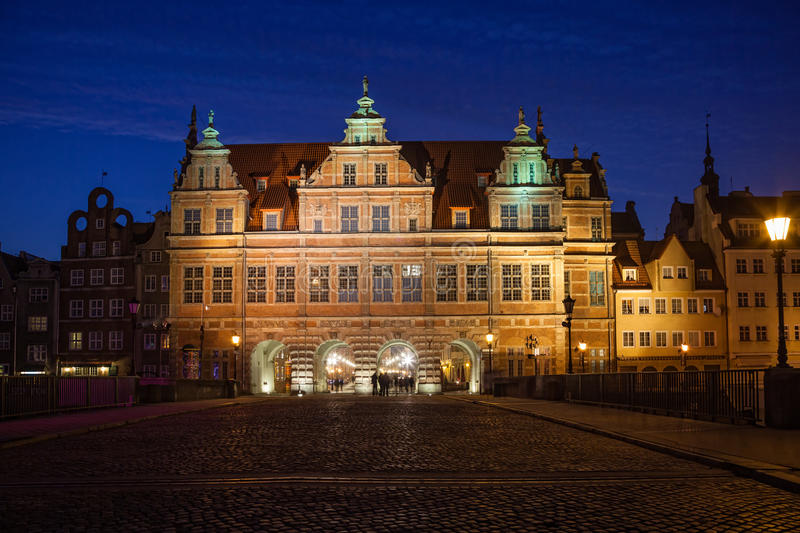 Download Green Gate in Gdansk editorial stock image. Image of famous - 24094464