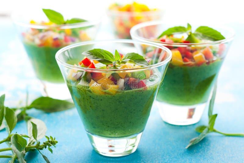 Green Gazpacho stock image