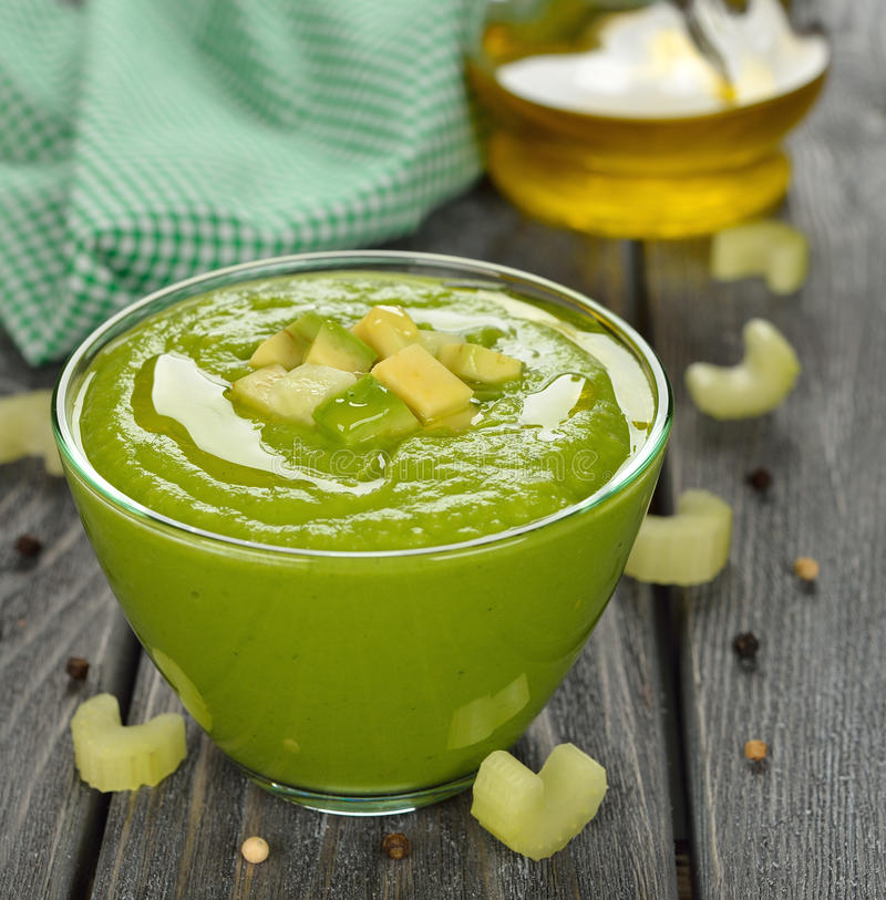 Green gazpacho royalty free stock photo