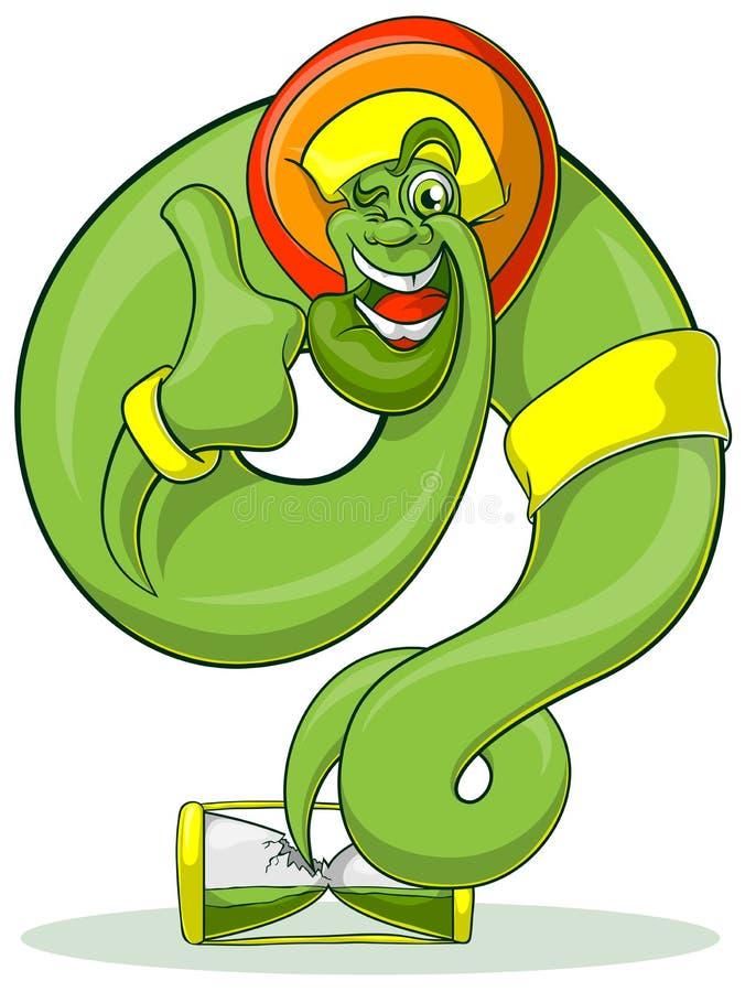 Green Genie Rastaman stock illustration