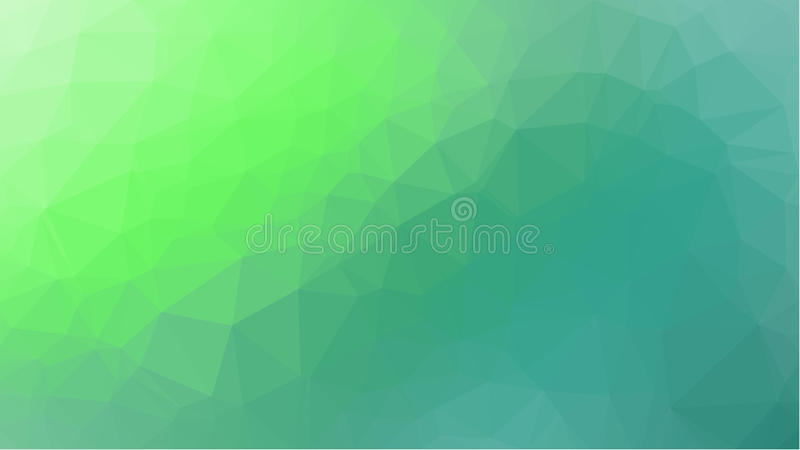 Green Geometric background with triangular polygons. Abstract design. Vector illustration royalty free stock photos