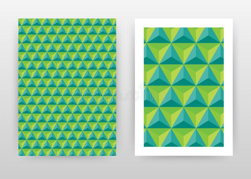 Green geometric triangle business background design for annual report, brochure, flyer, poster. Geometry green triangle vector vector illustration