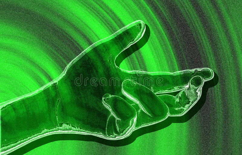 Green gesture. stock photo