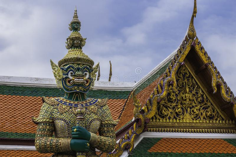 Green Giant or Thatsakan Wat Phra Kaew or name officially as Wat Phra Si Rattana Satsadaram. Green Giant or Thatsakan Wat Phra Kaew the Temple of name officially stock photo