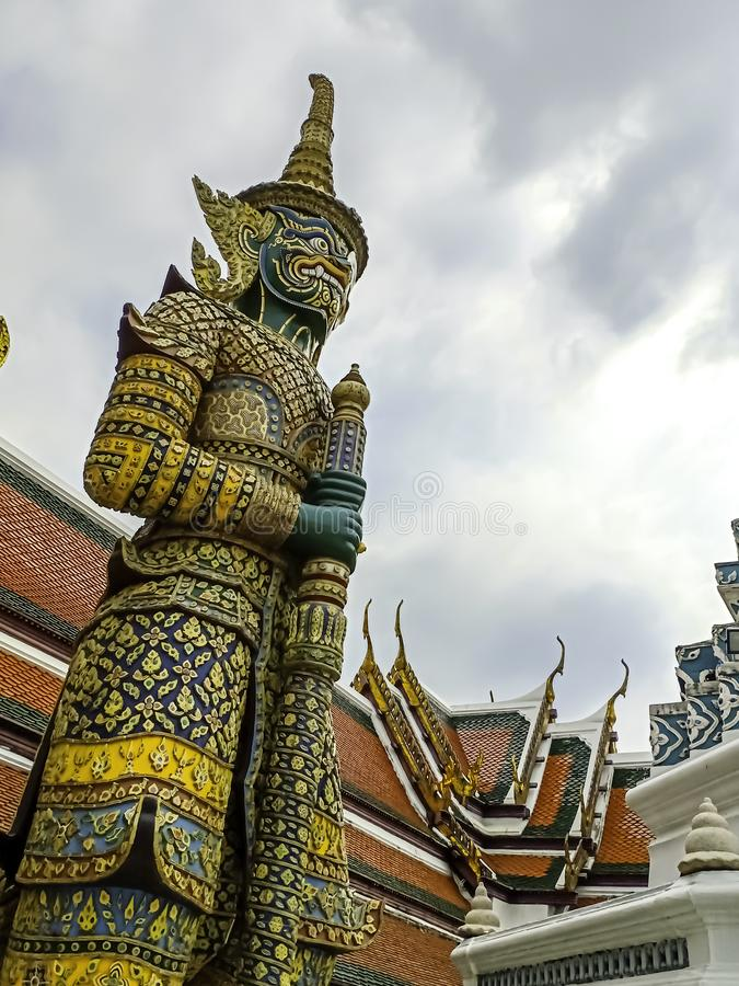 Green Giant in Wat Phra Kaew or name officially as Wat Phra Si Rattana Satsadaram. Green Giant in Wat Phra Kaew the Temple or name officially as Wat Phra Si stock images