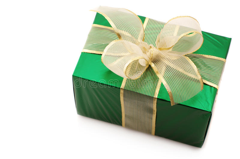 Green gift royalty free stock image
