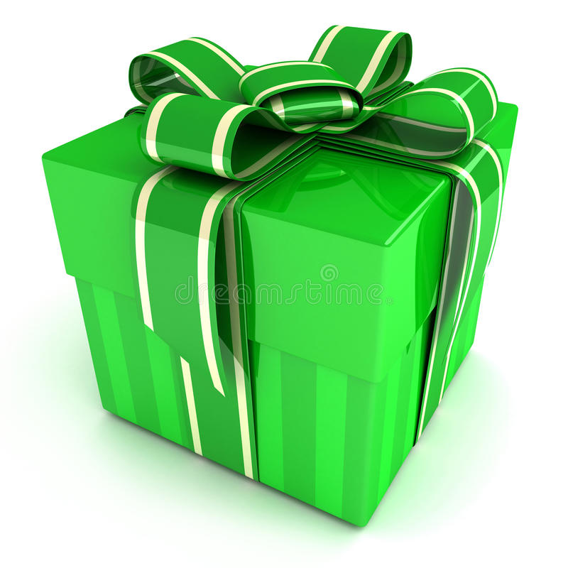 Green gift royalty free illustration