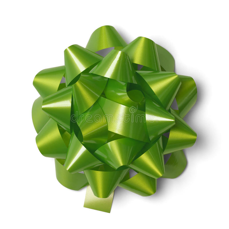 green gift bow stock image image of greeting satin 34640873