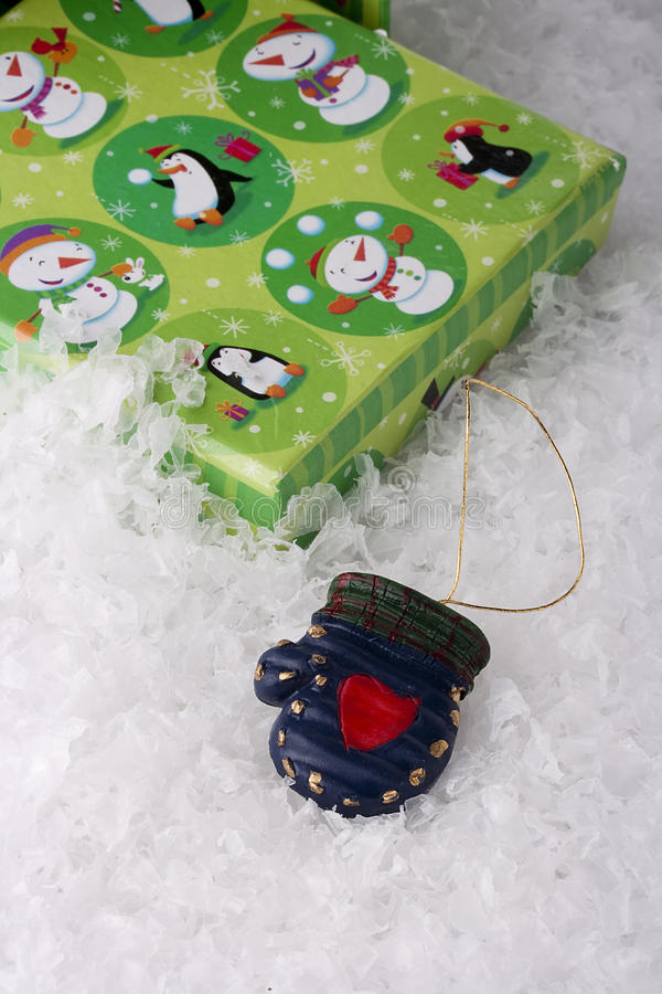 Download Green gift box stock image. Image of season, event, mitten - 17456417