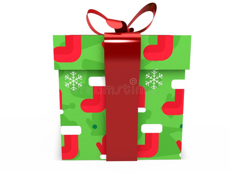 Download Green Gift Box With Ribbon Bow 3d Illustration Rendering Stock Image - Image of colorful, glossy: 80069565