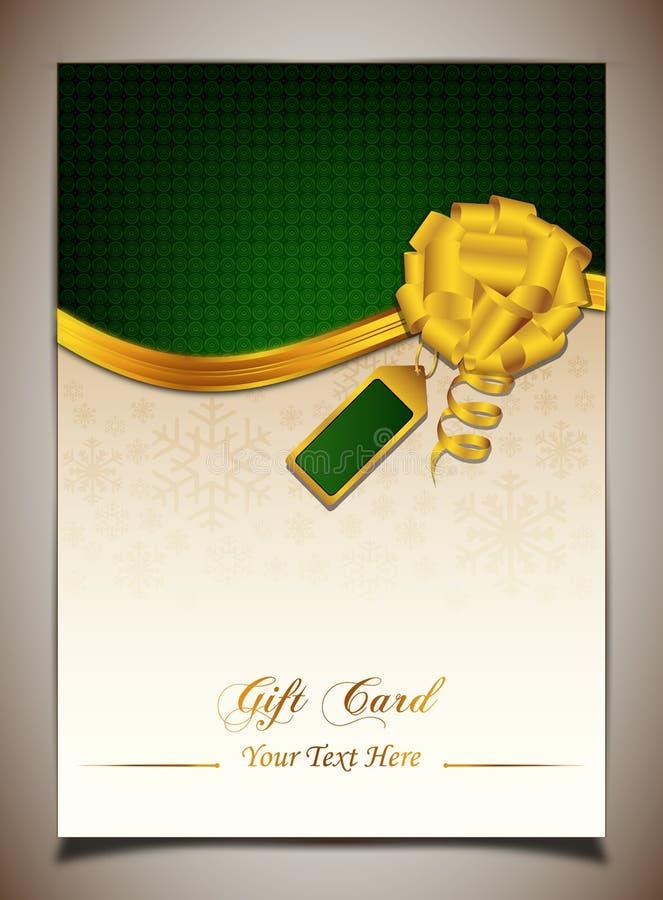 Green gift card vector illustration