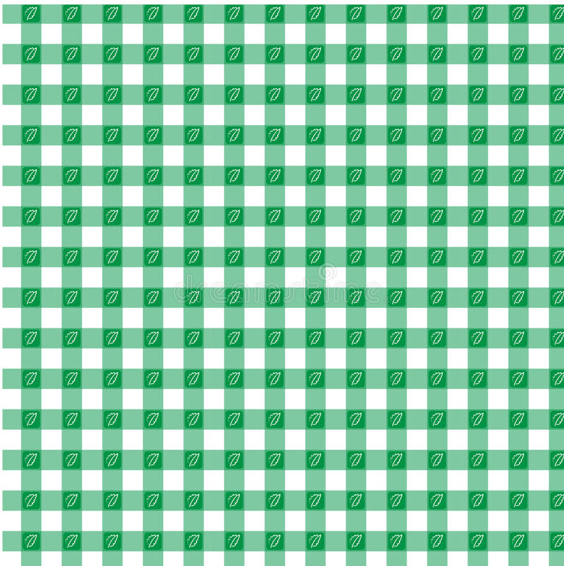 Green gingham stock photo