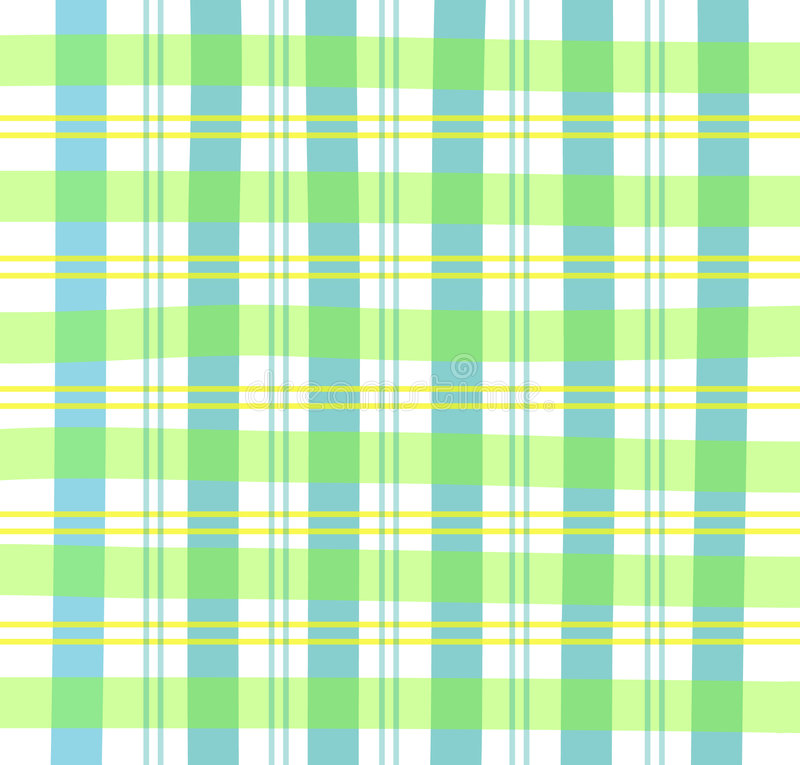 Green Gingham Plaid royalty free illustration
