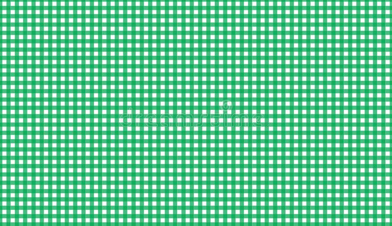 Green gingham seamless pattern. Texture from rhombus/squares for. Plaid, tablecloths, clothes, shirts, dresses, paper, blankets, quilts and other textile royalty free stock images
