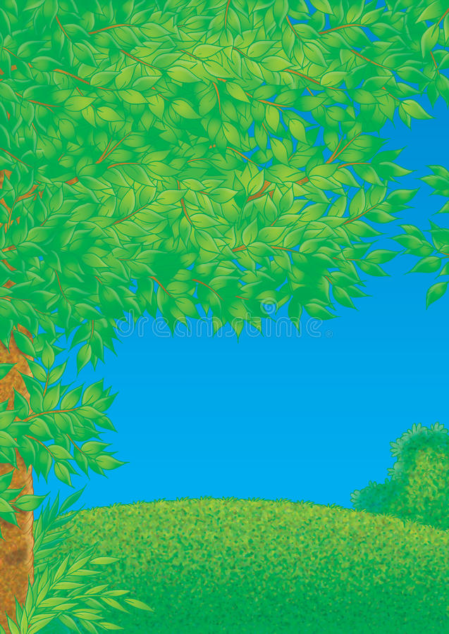 Download Green glade stock illustration. Image of spring, scenery - 13480423
